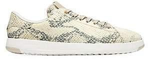 Cole Haan Women's GrandPro Snakeskin-Embossed Leather Tennis Sneakers
