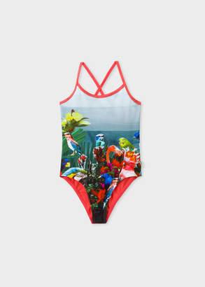 Paul Smith Girls' 2-6 Years 'Birds Of Paradise' Print Swimsuit