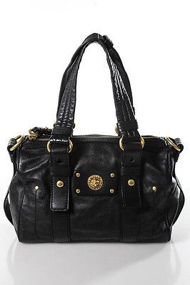 Marc By Marc JacobsMarc By Marc Jacobs Black Leather Satchel Handbag Size Small