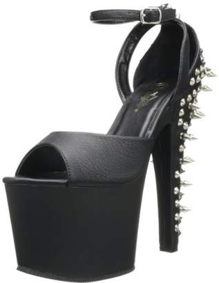 Pleaser USA Women's Fearless-715 Ankle-Strap Sandal