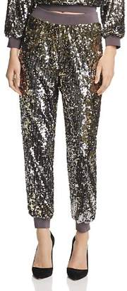 Alice + Olivia Pete Sequined Jogger Pants