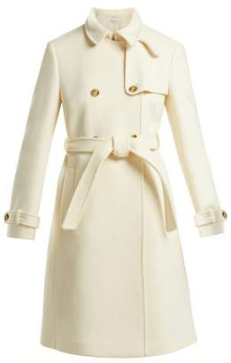 RED Valentino Double Breasted Belted Wool Coat - Womens - Ivory