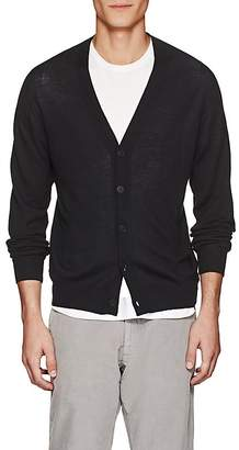 Tomas Maier MEN'S FINE-GAUGE-KNIT WOOL V-NECK CARDIGAN