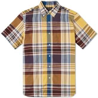 Beams Short Sleeve Big Check Shirt