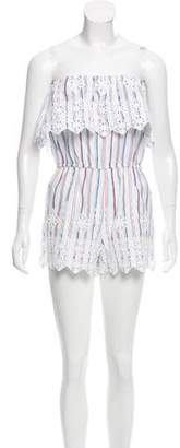 Miguelina Carolina Embroidered Romper w/ Tags