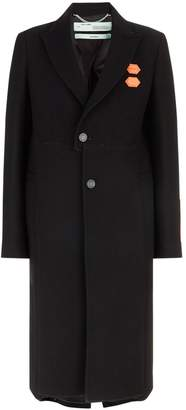 Off-White Wool Reconstructed Coat