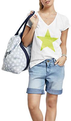 Hush Stella Star T-Shirt, White/Neon Yellow