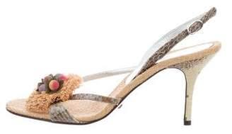 Dolce & Gabbana Embellished Slingback Sandals