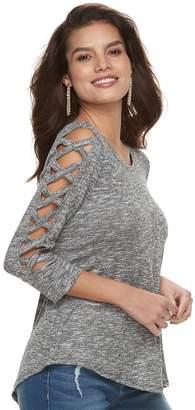 JLO by Jennifer Lopez Women's Strappy-Sleeve Top