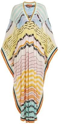 Missoni Mare - Wave Striped Knitted Kaftan - Womens - Multi