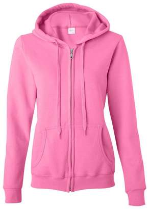 Gildan Women's Blend Full Zip Hooded Pouch Pocket Sweatshirt