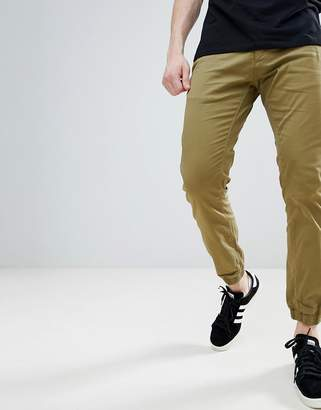 Solid Textured Cuffed Chinos
