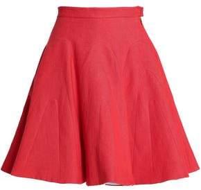 DELPOZO Linen Mini Skirt