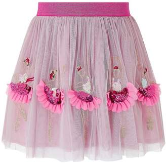 Monsoon Girls Children Pink Disco Ballerina Skirt - Pink