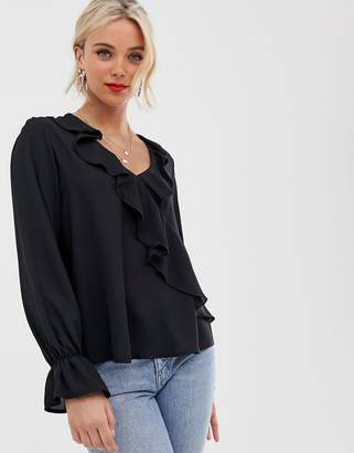 Love ruffle front blouse