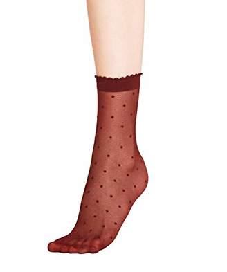 Falke Women's Dot 15 Den Calf Socks White 2209), (size: 39/42)