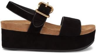 Prada Suede double-strap flatform sandals