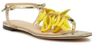 Charlotte Olympia Banana Embellished T-Strap Sandal