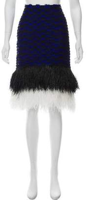 Proenza Schouler Ostrich Feather Pencil Skirt