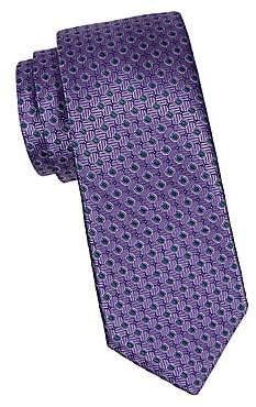 Canali Men's Circle Silk Tie