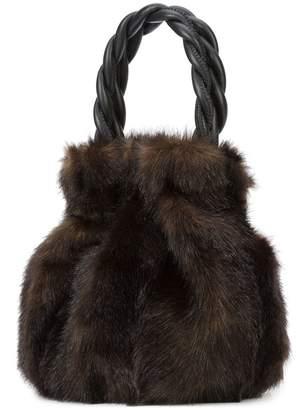Staud Moreau braided handle bag