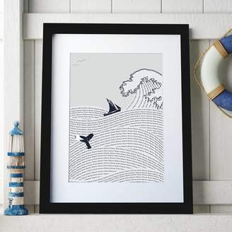 Spin Collective Personalised Sea Waves Art Print