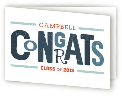 Vintage Congrats Graduation Greeting Cards