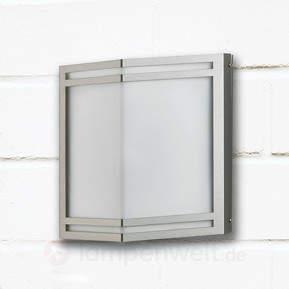 Aus Edelstahl - LED-Außenwandleuchte Dobrin