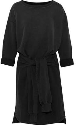 Current/Elliott The Double Sweatshirt Tie-Front Cotton-Terry Dress