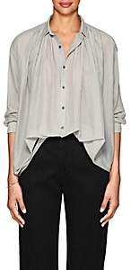 Pas De Calais Women's Striped Cotton-Silk Voile Blouse - White