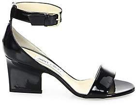 Jimmy Choo Women's Edina Patent Leather Ankle-Strap Sandals