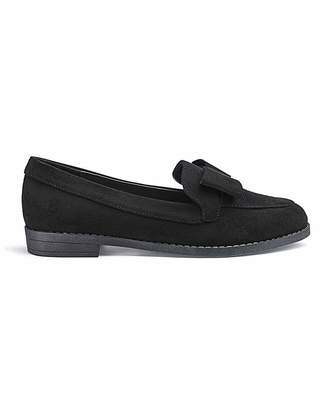c70f5ef20f3f Simply Be Juno Bow Loafers Extra Wide Fit