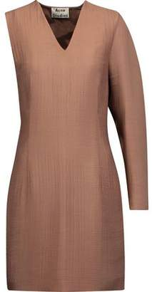 Acne Studios Sage Asymmetric Twisted Cloqué Mini Dress