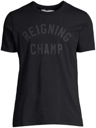Reigning Champ Club Logo Cotton T-Shirt