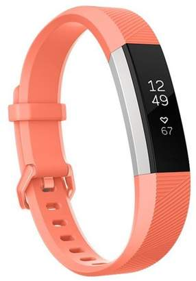 Fitbit Moretek For Alta Band and Alta HR Band Strap Adjustable Replacement with Secure Metal Clasp Buckle(Orange,Small)