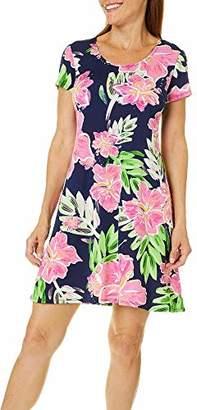 MSK Women's Petite Short Sleeves t-Shirt Dress