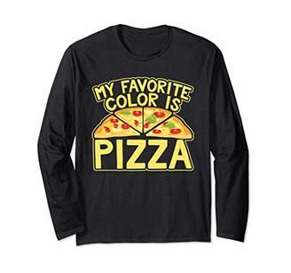 My Favorite Color Is Pizza Novelty T Shirt Long Sleeve T-Shirt
