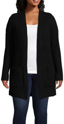 A.N.A Long Sleeve Drop Shoulder Cardigan - Plus