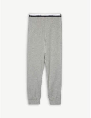 Calvin Klein Logo stripe waistband cotton-blend joggers 4-16 years