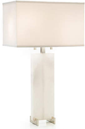 John-Richard Collection Alabaster Table Lamp - White