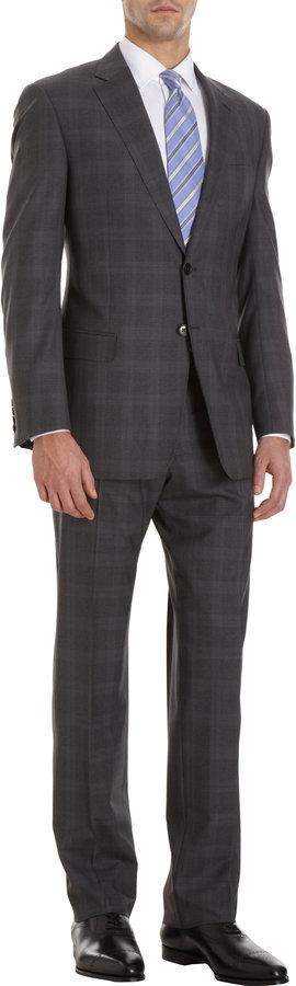 Armani Collezioni Plaid Two-Piece Suit