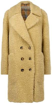 Burberry Double-Breasted Teddy Coat
