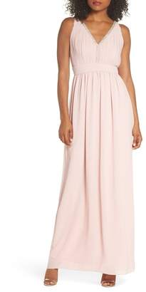 TFNC Sallie Open Back Chiffon Gown