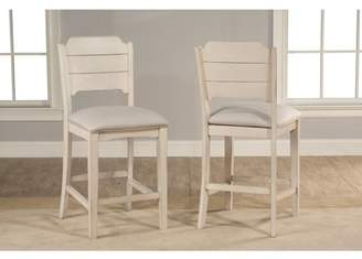Hillsdale Furniture Clarion Non-Swivel Open Back Counter Height Stool, Set of 2