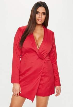 Missguided Plus Size Red Blazer Dress