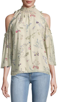 Rachel Zoe Callahan Floral Cold-Shoulder Top