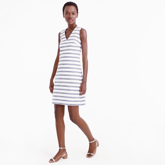 J.CrewPetite striped tweed sheath dress