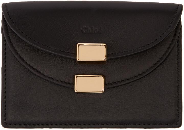 Chloé Chloé Black Leather Card Holder