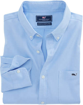 Vineyard Vines Garment Dyed Oxford Slim Stretch Tucker Shirt
