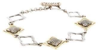 David Yurman Two-Tone Quatrefoil Link Bracelet